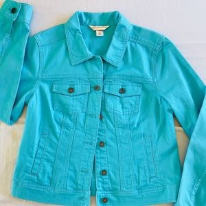 Christopher and Banks Turquoise Jean Jacket